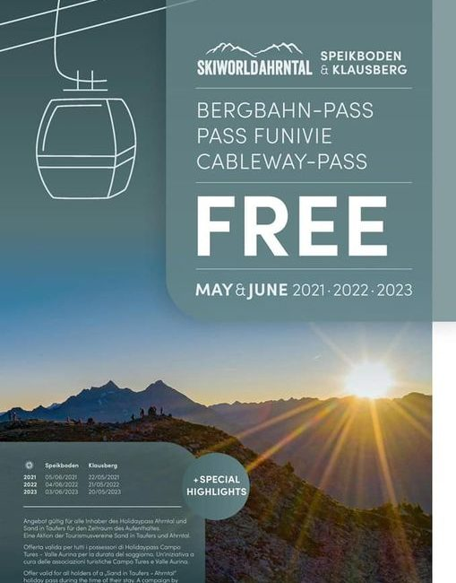 Free Ticket Speikboden & Klausberg